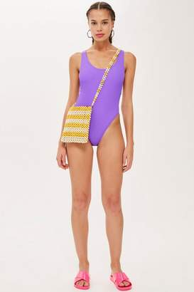 Topshop Crinkle Scoop Swimsuit