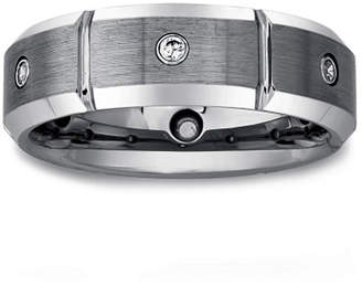 MODERN BRIDE Mens 1/7 CT. T.W. Diamond Tungsten Carbide Wedding Band