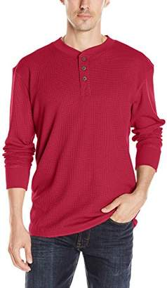 Wrangler Authentics Men's Big & Tall Long Sleeve Waffle Henley