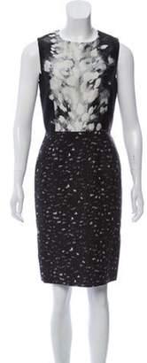 Giambattista Valli Silk Sheath Dress Black Silk Sheath Dress
