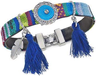 INC International Concepts I.n.c. Gold-Tone Cotton Thread & Tassel Pvc Strap Friendship Bracelet, Created for Macy's