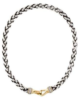 David Yurman Two-Tone Diamond Collar Necklace