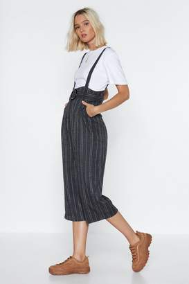 Nasty Gal Totally Suspender Striped Overalls