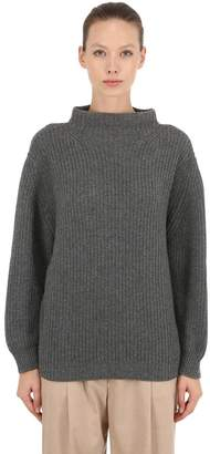 Agnona Cashmere Rib Knit Sweater