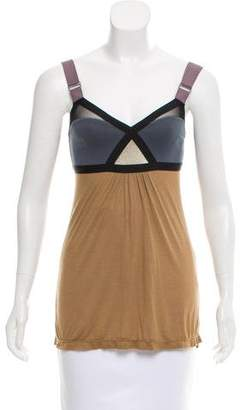 VPL Bandage Accented Sleeveless Top