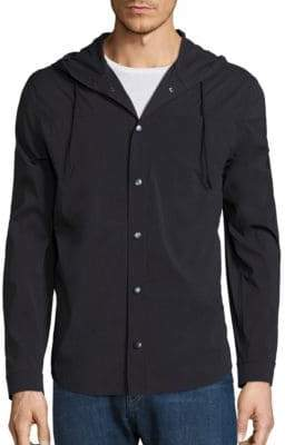 Vince Hooded Shirt Jacket