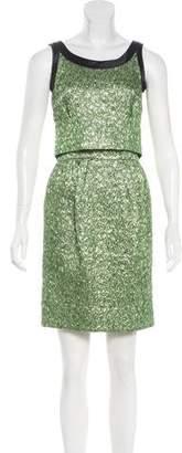 Balenciaga Brocade Plissé Dress