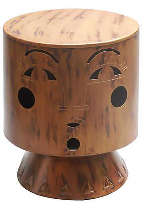 Selamat Bette Footstool - Antiqued Brass