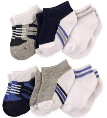 6-Pack No-Show Ankle Socks in Blue