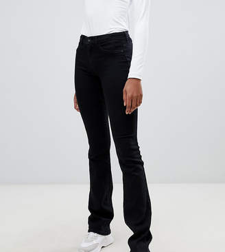 Only Tall flare jean in black