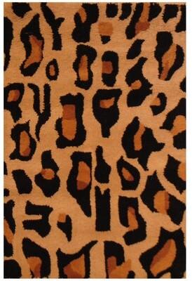 Herat Oriental Hand-Tufted Animal Print Dark Brown/Black Area Rug Herat Oriental