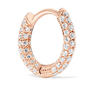 Maria Tash - 18-karat Rose Gold Diamond Earring - one size $950 thestylecure.com