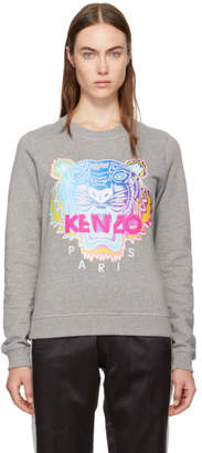 Kenzo Grey Limited Rainbow Geo Tiger Sweatshirt