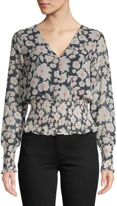 Design Lab Floral-Print Blouse