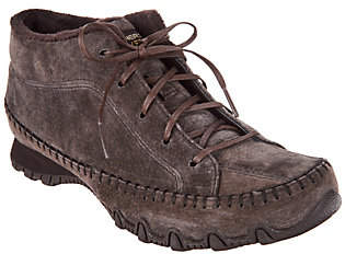 Skechers Suede Bikers Lace-up Boots - TotemPole