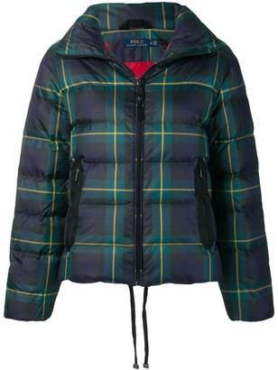 Polo Ralph Lauren plaid puffer jacket