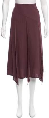 Barbara Bui Draped Midi Skirt