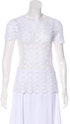 MICHAEL Michael Kors Crochet Short Sleeve Top