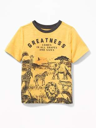 "Old Navy ""Greatness Comes in All Shapes and Sizes"" Tee for Toddler Boys"