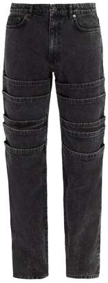 Y/Project Mid Rise Tiered Jeans - Mens - Black