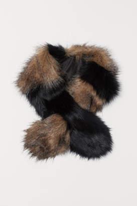 H&M Faux Fur Scarf - Beige