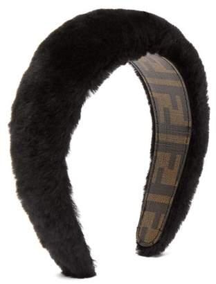 Fendi Faux Fur Headband - Womens - Black