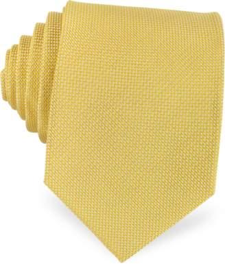 Forzieri Solid Woven Silk Tie