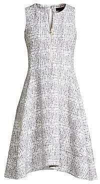 Donna Karan Women's Zip-Front Fit-&-Flare Dress