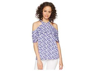MICHAEL Michael Kors Carnation Flounce Halter Top Women's Clothing