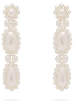Simone Rocha - Faux Pearl Drop Earrings - Womens - Pearl