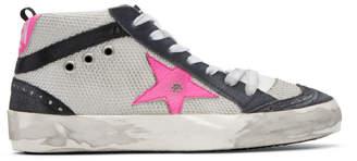 Golden Goose Grey Mid Star Net Sneakers