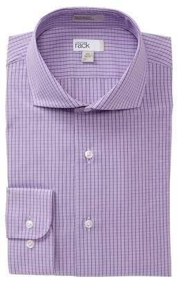 Nordstrom Rack Checkered Trim Fit Dress Shirt