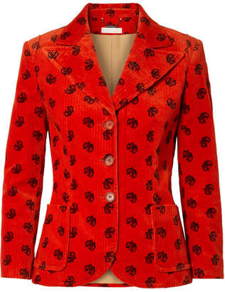Chloé Printed Cotton-blend Corduroy Blazer
