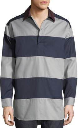 Valentino Men's Long-Sleeve Striped Shirt