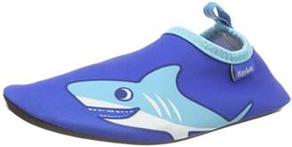 Playshoes Unisex Kids' Badeslipper, Badeschuhe Hai Water Shoes, (Blue 7), 10.5 Child UK 28/29 EU