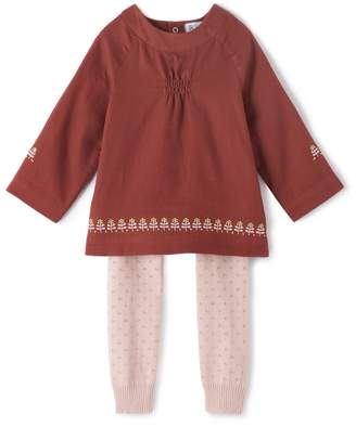 La Redoute Collections Blouse and Leggings Outfit, Birth - 3 Years