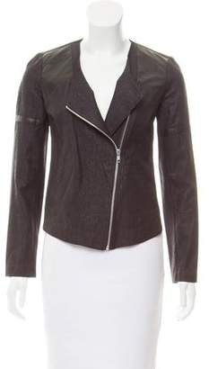 Generation Love Vegan Leather-Accented Zip-Up Jacket