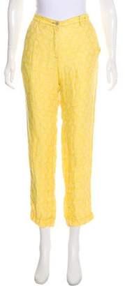 Massimo Alba Linen Mid-Rise Straight-Leg Pants