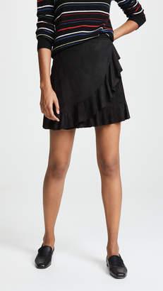 BB Dakota It's A Vibe Faux Suede Skirt
