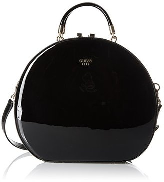 GUESS Azalee Round Case Black Patent $118 thestylecure.com