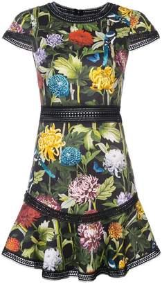 Alice + Olivia Alice+Olivia floral print shortsleeved dress