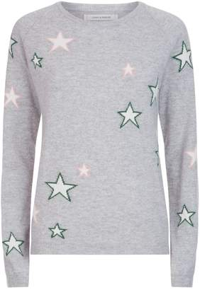 Chinti and Parker Multi Coloured Star Sweater