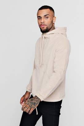 boohoo Corduroy Half Zip Hooded Jacket