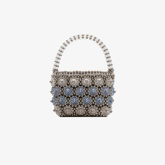 Shrimps Blue and silver Shelly beaded floral bag