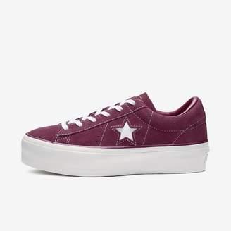 Converse Women's Shoe One Star Platform Suede Low Top