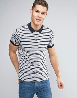 French Connection Yarn Dye Stripe Polo Shirt