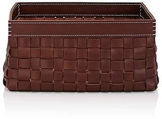 Arte & Cuoio Intrecci-Woven Leather Basket