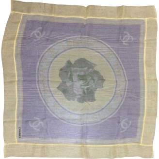 Chanel Vintage Yellow Silk Scarves