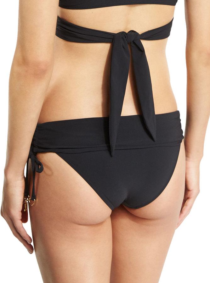 Stella McCartney Timeless Basics Fold-Over Swim Bottom, Black 2