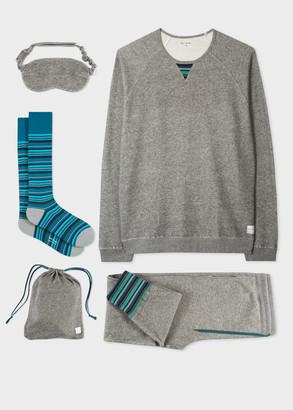 Paul Smith Men's Grey Marl Cotton Loungewear Set